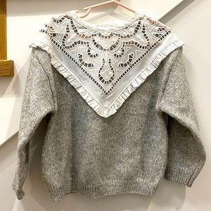 Girls Laced Detail Sweater